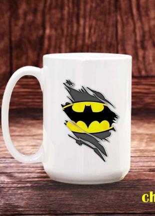 Чашка с принтом Бетмен
