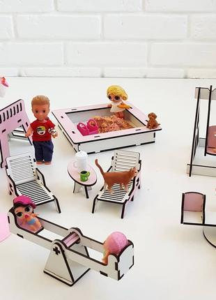Набор мебели для кукол. Кукольный домик.
