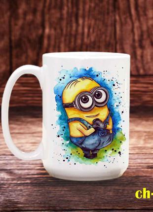 Чашка с принтом миньон
