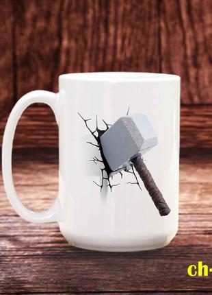 Чашка с принтом Мьёльнир молот тора