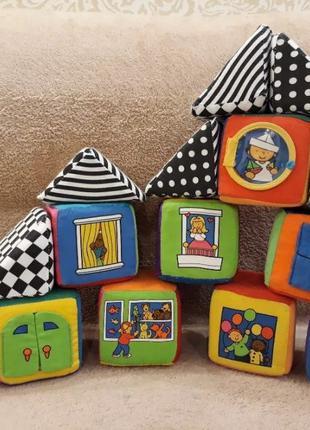 Мягкие развивающие кубики K's kids в сумке