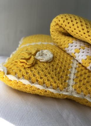 Желтый Детский плед для девочки