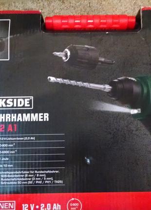 Продам Аккумуляторный перфоратор Parkside PBHA 12 A1,новый из Гер