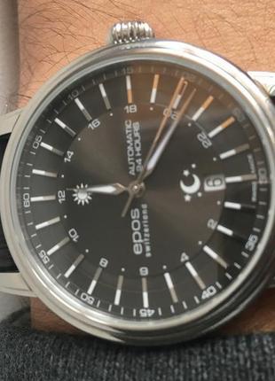 Часы EPOS 24h необычные с автоподзаводом, Швейцария, Swiss