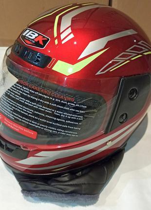 Шлем интеграл IBK 309 (М - размер) Красный глянец с воротником