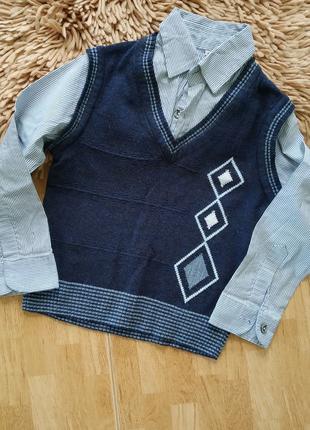 Сорочка обманка жилет