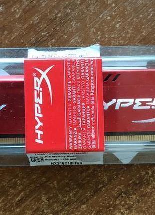 Оперативная память HyperX DDR3-1600 4096MB PC3-12800 FURY Red