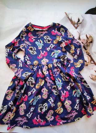 Платьечко с поняшками на 4-5 лет, рост 110 см