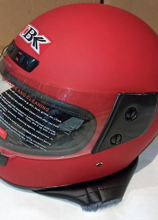 Шлем Интеграл IBK 311 (М - Размер) Красный Матовый С Воротником