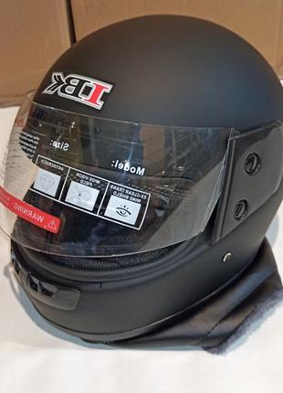 Шлем Интеграл IBK 311 (М - Размер) Черный Матовый С Воротником