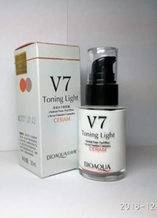 Крем-основа под макияж для лица bioaqua v7 deep hydration ceram