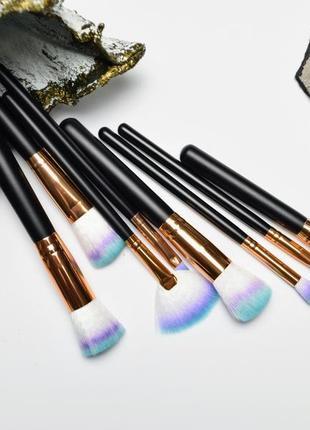 Гофрированный набор кистей для макияжа ultraviolet 8 шт