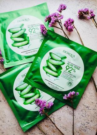 Увлажняющая тканевая маска для лица bioaqua с 92% экстрактом а...