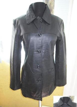 Классическая женская кожаная куртка clockhouse. голландия. лот...