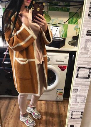 Шикарное пальто/кардиган с карманами