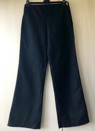 Чёрные брюки united colors of benetton / l / хлопок, лен