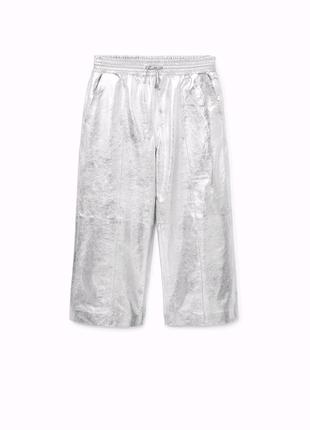 Штаны брюки кюлоты натуральная кожа кожаные