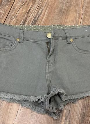 Короткие джинсовые летние хаки шорты с необработанным краем