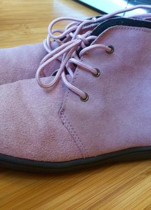ботинки демисезонные натуральный замш женские размер 35-36
