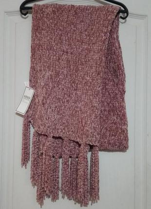 Мягкусенький плюшевый шарф с бирками