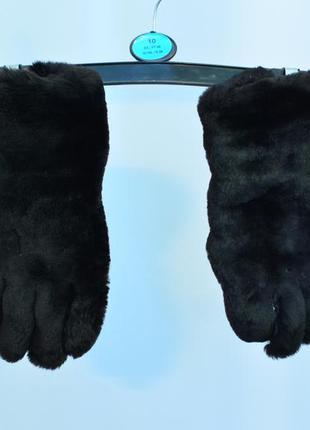 2569\50 черные меховые перчатки  hope brother