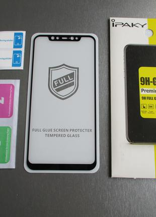 Защитное стекло iPaky для Xiaomi Mi8 Mi 8 (Full Glue / 9H / 0.33m