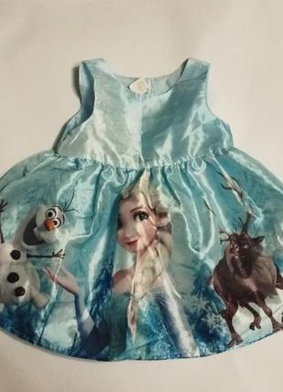 Платье холодное сердце. эльза, олаф, свен