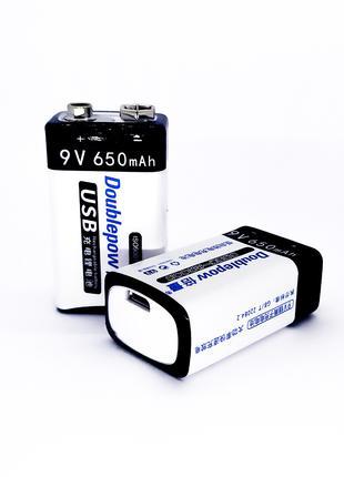 """Аккумулятор """"Крона"""" с разъемом micro USB"""