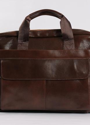 Кожаная мужская сумка для документов, портфель для ноутбука