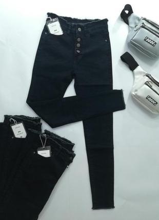 Стильные джинсы ( м, л, хл ), джинсы высокая посадка, джинсы с...