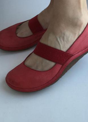 Кожаные балетки clarks 37 р., натуральная кожа, туфли в стиле ...