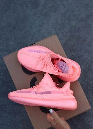 Adidas yeezy boost 350 pink 🆕 женские кроссовки адидас 🆕 розовый