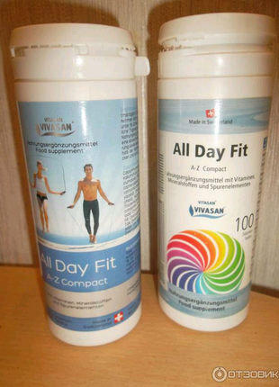 Бодрость на весь день/All Day Fit (витамины A-Z компакт в таблетк