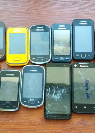 Смартфоны разные 12шт на запчасти, восстановление