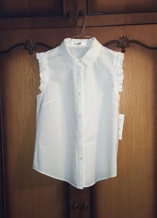 Блузка без рукавов/жилетка из хлопка женская