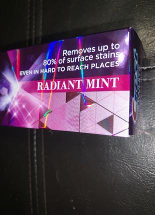 Отбеливающая зубная паста crest 3d white radiant mint 116грамм,