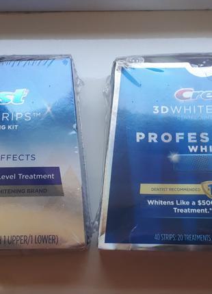 Полоски отбеливающие Crest White Whitestrips Professional White