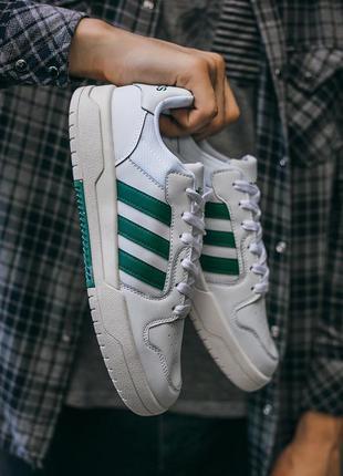 "Adidas new forum ""white\green"" 🆕 мужские кроссовки адидас фору..."