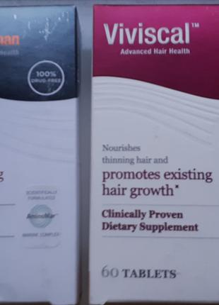 Витамины для роста волос Viviscal Man Hair Growth Program 60шт.