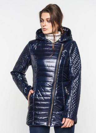 Куртка косуха женская удлиненная демисезонная