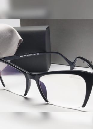 Стильные женские полуободковые очки для работы за компьютером!