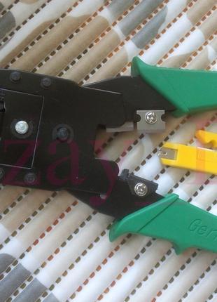 Кримпер-клещи для обжима витой пары RJ45 RJ-12 4P4C + зачистка ка