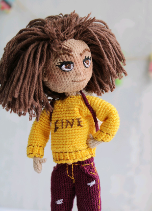Кукла ручной работы каркасная