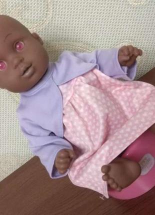 Unimax кукла пупс анатомический вениловый чернокожий реборн ля...