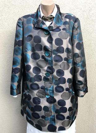 Жаккардовая куртка большого размера,в большие разноцветные гор...