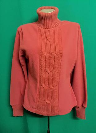 Флисовый свитер морковного цвета tcm tchibo