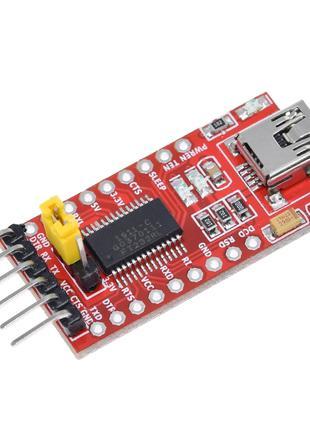 FT232 USB-UART конвертер, преобразователь USB-TTL 3.3V 5V Serial