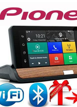 Видеорегистратор GPS навигатор Pioneer T7 Android,3G+задняя камер