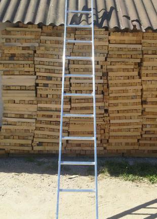 Лестница алюминиевая односекционная приставная на 13 ступеней