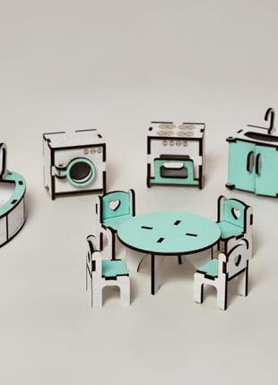 Мебель для кукольного домика.  Развивающие игрушки